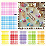 6pcs Plaid Watermark Nail Decals Stickers