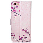 Plum Pattern PU Leather Material Phone Case for iPhone 6/6S