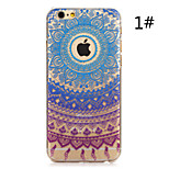 Colorful Flower Painted Pattern Hard Plastic Back Cover For iPhone6Plus/6SPlus 5.5