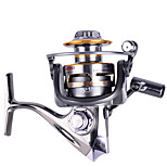 2000 Size 5.2:1 Full Metal Reel 12+1 Ball Bearings All Metal Sea Fishing Saltwater Fishing Spinning Fishing Reel