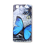 Blue butterfly New Soft TPU Back Case Cover For DOOGEE X5 Mobile phone bags Cases