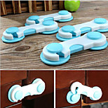 4Pcs Baby Kid Box Drawer Cupboard Cabinet Wardrobe Door Fridge Safe Safety Lock Random Color