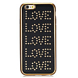 Rivet Leather Series Love Pattern Gold Plating Golden Round-Dots Soft TPU Case for iPhone6/6S