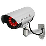 KingNEO 1pc White Wireless Fake Dummy Dome CCTV Security Camera LED light