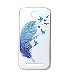 Blue feather New Soft TPU Back Case Cover For DOOGEE Valencia 2 Y100 Mobile phone bags Cases