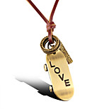 Vilam® Vintage LOVE Skateboard Leather Necklace Copper Necklace Pendant Necklaces Sports 1pc