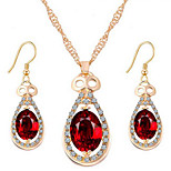 European Diamond Drop Crystal Alloy Jewelry Set Necklace/Earrings Wedding / Party / Daily / Casual 1set