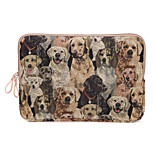 Cute Dog Design Canvas Laptop Sleeve Bag Ultrabook Case  for Macbook Air 11.6/13.3 Macbook 12 Macbook Pro/13.3