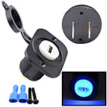 12V Motorcycle Automobile Console 2.1A USB Socket Car Charger with Fixed Plate