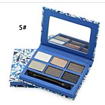 6 Colors Shimmer Eye Shadow Palette Warm Nude Matte Makeup Cosmetic