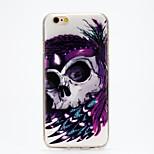 copertura maschera modello del cranio TPU imd morbida posteriore per iPhone 6 / 6s (colori assortiti)