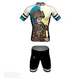 MYKING Men's Cycling Bike Short Sleeve Clothing Set Bicycle Wear Suit Jersey and Shorts King