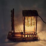 kreativ træ lys sejle lampe dekoration bordlampe soveværelse lampe gave til barn