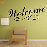 AYA™ DIY Wall Stickers Wall Decals,  Welcome English Words & Quotes PVC Wall Stickers