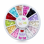 1wheel Resin Candy Colors Butterfly 3d Nail Art Decorations