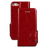 Pure Color With Stents PU Leather Full Body Case for iPhone 5/5S