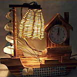 Creative Wood Light Clock Sailing Lamp Decoration Desk Lamp Bedroom Lamp Gift for Kid