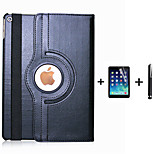 PU Leather Flip Smart Stand 360 Rotating Case For iPad Air +Screen Protector Film Stylus Pen (Assorted Colors)