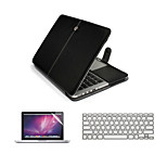 3  in 1 PU Leather Laptop Case Bag with Screen Protector and Keyboard Cover for Macbook  Pro13