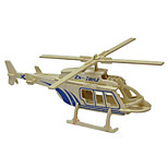 3D Puzzles Solid Wooden Jigsaw Puzzle  Model Wooden Toy Helicopter