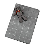 patrón de rejilla con conejo lindo de cuero de la PU con el caso elegante soporte para el iPad Mini 4 (colores surtidos)