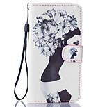 Girl Pattern PU Leather Full Body Case with Stand for BQ M 5.0