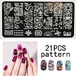 1PS Nail Art Seal Template Nail Lace Pattren 12x6CM