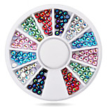 -Finger-Nail Schmuck-Acryl-1wheel colorful ab nail decorationsStück -6cm wheelcm