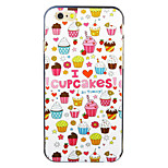 Cup Cakes Pattern IMD Printed TPU Soft Back Cover for iPhone 6/6S(Assorted Colors)