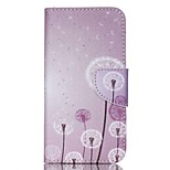 Cross Textured Leather Phone Cover for Acer Liquid Z530 Z530S - Dandelion Pattern