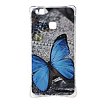 Blue butterfly Shockproof as TPU soft shell cover Case for Huawei Ascend P9 lite P9 mini
