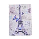 la Torre Eiffel intorno ai fiori fondina aperta per ipad aria 3 / ipad 7