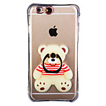 Glow in the Dark Raccoon Pattern with Hand Ring and Strap PC Back Case for iPhone 6Plus/6SPlus 5.5