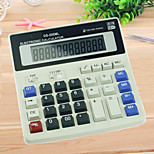1PC Office Business Calculator Electronic Solar Double Power Supply(Style random)
