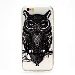 noir&blanc aigle imd tpu imprimée couverture souple pour iphone6plus / 6splus (couleurs assorties)