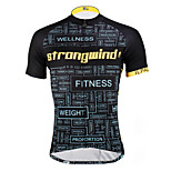 PaladinSport Men 's Short Sleeve Cycling Jersey DX619 wind 100% Polyester
