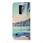 Anchor and Sea Magnetic PU Leather wallet Flip Stand Case cover for LG K7 LG Tribute 5