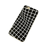 Black and White Grid Pattern Soft TPU Back Case for iPhone 6 Plus/6S Plus(Assorted Colors)