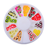 1wheel Fruit Plymer Clay Fimo 3d Nail Art Decorations