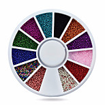 -Finger-Nail Schmuck-Acryl-1whee caviar beads nail decorationsStück -6cm wheelcm