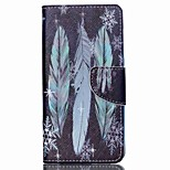 Cross Textured Leather Magnetic Stand Phone Case with Card Slot for Acer Liquid Z520 - Feather and Snowflake