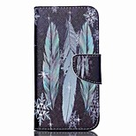 Cross Textured Leather Flip Cover for Acer Liquid Z530 Z530S - Feather and Snowflake