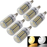 YouOKLight® 6PCS E14/E27 6W 96*SMD5730 Warm White/Cold White CRI>80 LED Corn Bulbs Lamp (AC110V-120V/220V-240V)