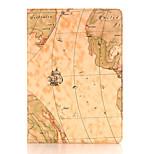 9.7 pulgadas patrón mapa de la caja de cuero con soporte para iPad pro 9.7 (colores surtidos)