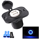12V Motorcycle Automobile Console 4.2A Dual USB Car Charger with Fixed Plate