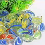 il materiale di pietra di vetro / roccia ornamento decorazione per pesci da acquario multicolore