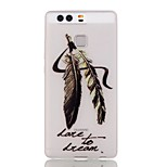 Luminous Night Wolf FeatherTPU Soft Case for Huawei Ascend P9