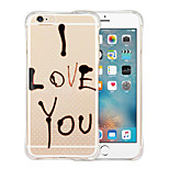 Love Eternal Soft Transparent Silicone Back Case for iPhone 6/6S (Assorted Colors)