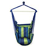 SWIFT Outdoor® Portable Cottton Stripe Swing Outdoor Garden Indoor Hammock Hanging Chair Outdoor