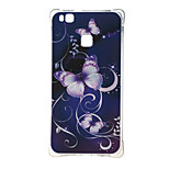 Purple Butterfly Shockproof as TPU soft shell cover Case for Huawei Ascend P9 lite P9 mini